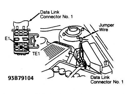 1992 Toyota tercel check engine light