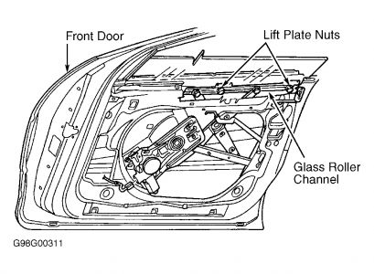 1999 Chrysler LHS Left Front Window: Window Is Rocking