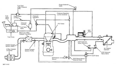 1997 Mazda 626 Diagram for Vacuum System: Engine