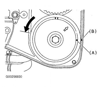 1998 Subaru Outback Timing Belt Marks/Diagrams: Engine