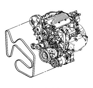 Belt Diagram: Six Cylinder Two Wheel Drive Automatic