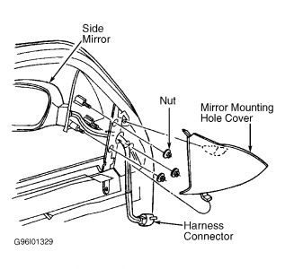 1999 Ford Windstar Replace Passenger Side Mirror: 1999