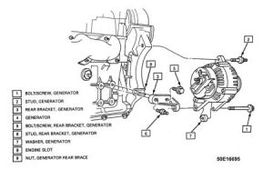 1994 Oldsmobile Ciera Looking Reassembly Diagram: Engine