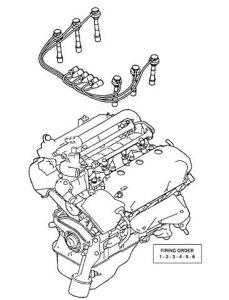 2002 Mitsubishi Montero Firing Order for Spark Plugs