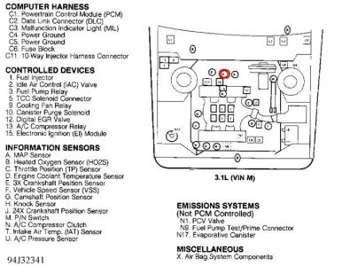 1994 Pontiac Grand Am Crankshaft Sensor Location: Engine