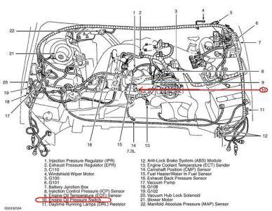 2002 Ford F350 Oil Pressure Switch: 2002 Ford F350 Where