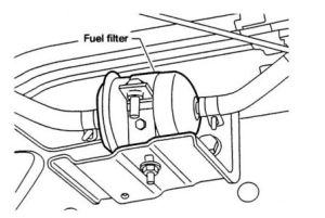 Fuel Filter: Six Cylinder Two Wheel Drive Automatic 72,730 Miles