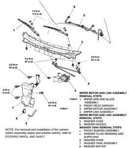 2002 Mitsubishi Montero Front Windshield Wiper Motor Replac