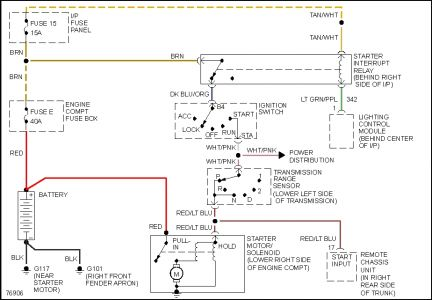 car starter wiring diagram 2002 ford taurus engine 1996 lincoln town electrical problem 1 reply