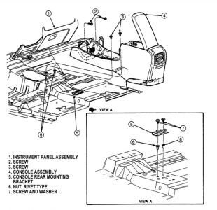 1998 Ford Ranger Center Console: Interior Problem 1998