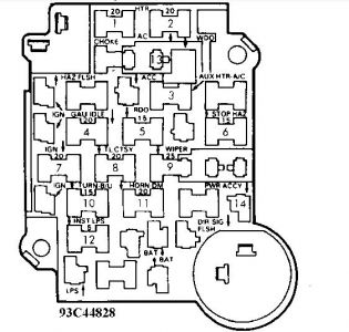 Fuse Box For 1989 Chevy Silverado : 33 Wiring Diagram