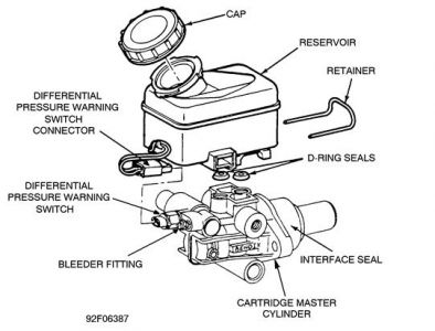 1990 Ford Aerostar Installation of Original Master Cylinder