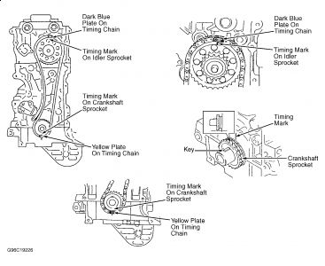 Toyota 22r timing chain diagram