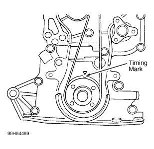1998 Kia Sophia Timing Belt: How Do I Reset the in Belt to