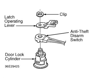 1997 Ford Thunderbird Theft System, Car Alarm: Electrical