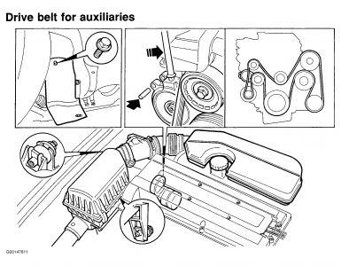 1994 Saab 900 Belt: 1994 Saab 900 4 Cyl Front Wheel Drive