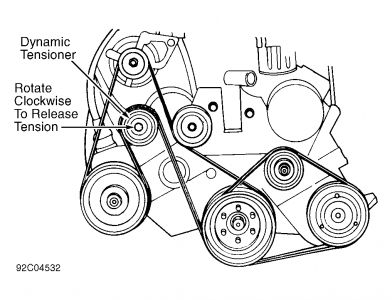 voyager: diagram for a serpentine belt..plymouth..3.0 engine