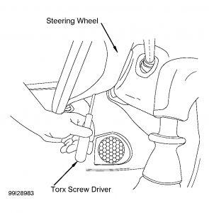 2005 Volvo S40 Remove Drivers Steering Wheel Air Bag