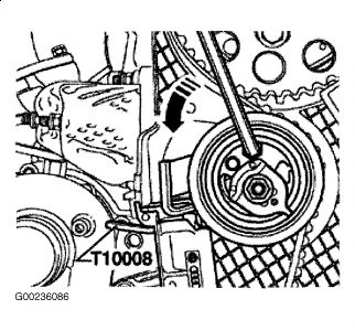 2002 Audi A4 Timing of Dual Cams: Timing Belt Tensioner