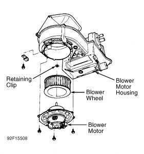 Service manual [1994 Toyota 4runner Blower Motor Removal