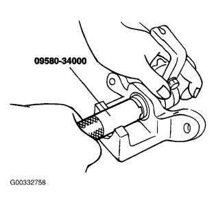 2007 Kia Spectra Reset the Caliper: Brakes Problem 2007
