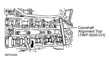 1998 Ford Contour Timing Belt Proceedures: Engine