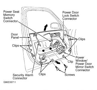 1997 Acura CL Window Motor Replacement/Door Panel