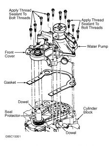 1997 Ford Taurus Coolant Leak at Block by Water Pump