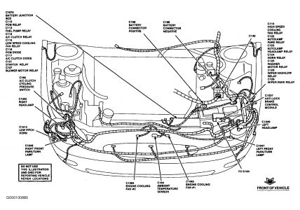 DIAGRAM OF FUSE BOX: Brakes Problem 1999 Ford Taurus 6 Cyl