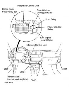 Horn Relay: Four Cylinder Front Wheel Drive Automatic