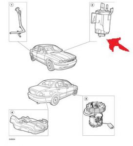 2007 Jaguar XJ6 Location of Fuel Sedimentor: Engine