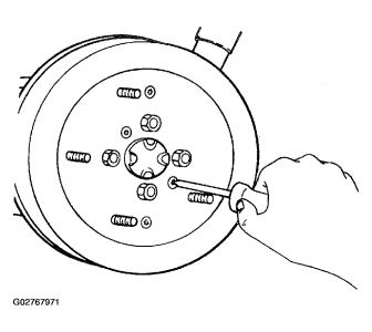 Service manual [2001 Kia Sportage Brake Drum Removal