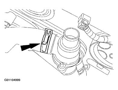 2002 Lincoln LS THERMOSTAT REPLACEMENTS INSTRUCTIONS