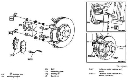 2005 Mercedes Benz C230 Replacing Brake Pads: Brakes