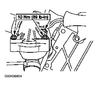 2002 Ford Ranger Replacing the Cooling System Thermostat