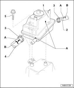 2000 Audi Quattro Power Steering Reservoir: Steering