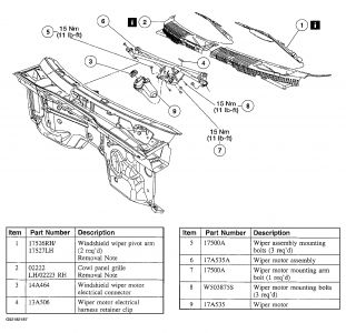 Service manual [Removing Windshield Wiper Cowling On A