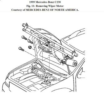 1999 Mercedes Benz C230 Replacement of Wiper Transmission/w