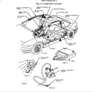 1993 Saturn SC1 Seat Belt Drive: Interior Problem 1993
