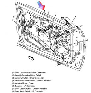 2003 Chevy S10 Door Window Regulator Diagram