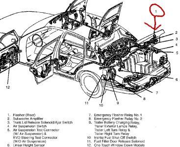 1997 Mercury Marquis Flasher Location: Brakes Problem 1997