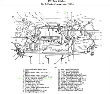 1998 Ford Windstar Exhaust System Diagram