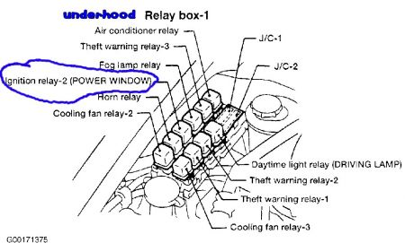 Power Window Relay Wiring Diagram