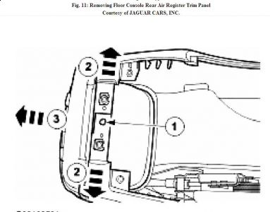 2000 Jaguar S-Type Replace Console Ashtray Housing: How to