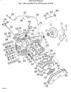 2001 Ford Windstar TRANSMISSION ASSEMBLY DIAGRAM: a