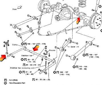 1996 Nissan Pathfinder Rear Suspension: 1996 Nissan