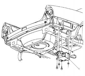 2002 SLS level control compressor access