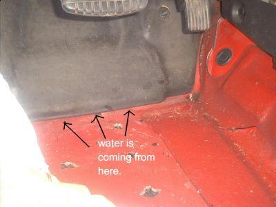2001 Chrysler Sebring Leak When I Run the Air Conditioner