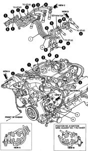 1997 Ford Crown Victoria Spark Plugs: Engine Mechanical