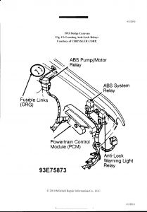 1993 Dodge Caravan ABS: IS THERE a WAY TO TEST THE POWER